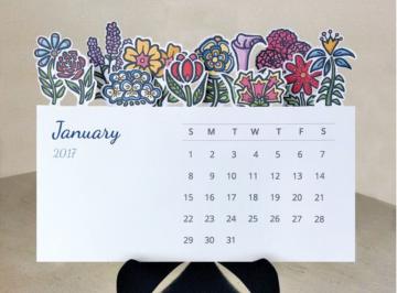 Những mẫu lịch để bàn hiện đại, đẹp mắt cho món quà Tết của công ty.